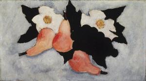 Marsden Hartley - Three Pears, Grapes, and White Flowers
