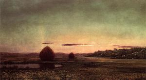 Martin Johnson Heade - Marsh Scene, Sunset - Sketch