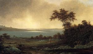 Order Reproductions | Rhode Island Landscape, 1859 by Martin Johnson Heade (1819-1904, United States) | WahooArt.com