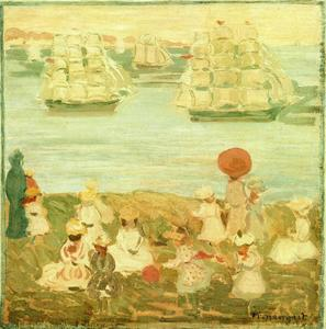 Maurice Brazil Prendergast - The Pretty Ships (aka As the Ships Go By)