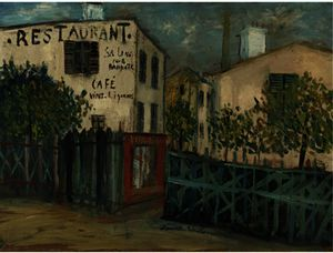 Maurice Utrillo - A Corner of Montmartre
