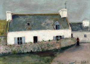 Maurice Utrillo - Farm on L'Ile d'Ouessant (Finistere)