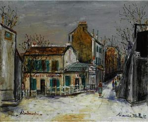 Maurice Utrillo - Le Lapin Agile in Montmartre
