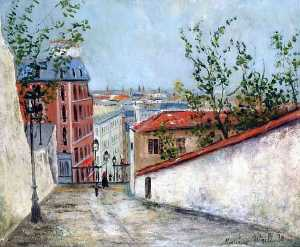 Maurice Utrillo - Rue du Mont-Cenis Montmartre and the house of Berlioz