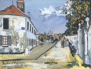 Maurice Utrillo - Street rising at Baillon
