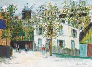 Maurice Utrillo - Streets Of Montmartre