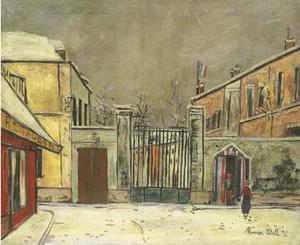 Maurice Utrillo - The barracks in the snow
