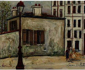 Maurice Utrillo - The house of Berlioz at Montmartre