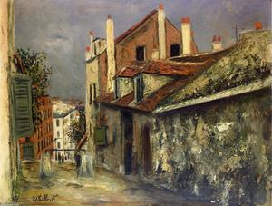 Maurice Utrillo - The House of Mimi Pinson in Montmartre
