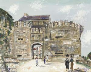 Maurice Utrillo - The Porte Neuve, Vézelay (Yonne)