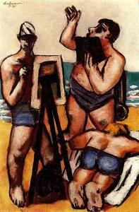 Max Beckmann - Artists by the Sea