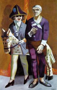 Max Beckmann - Carnival. The Artist and His Wife