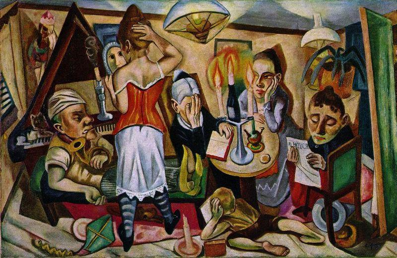 Family Picture, 1920 by Max Beckmann (1884-1950, Germany) | Oil Painting | WahooArt.com