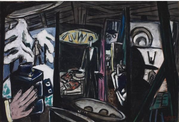 Film Studio by Max Beckmann (1884-1950, Germany) | Art Reproduction | WahooArt.com
