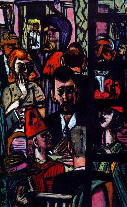 Hotel Lobby by Max Beckmann (1884-1950, Germany) | Painting Copy | WahooArt.com