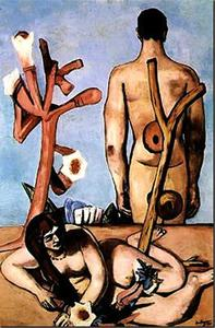 Max Beckmann - Man and woman