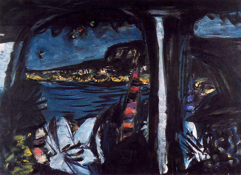 Monte Carlo by Night Seen from a Touring Car by Max Beckmann (1884-1950, Germany) | Art Reproduction | WahooArt.com