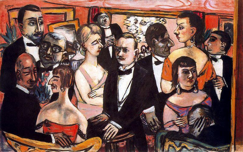 Paris Society by Max Beckmann (1884-1950, Germany) | Art Reproduction | WahooArt.com