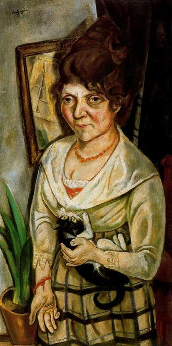 Portrait of Fridel Battenberg by Max Beckmann (1884-1950, Germany) | Art Reproduction | WahooArt.com