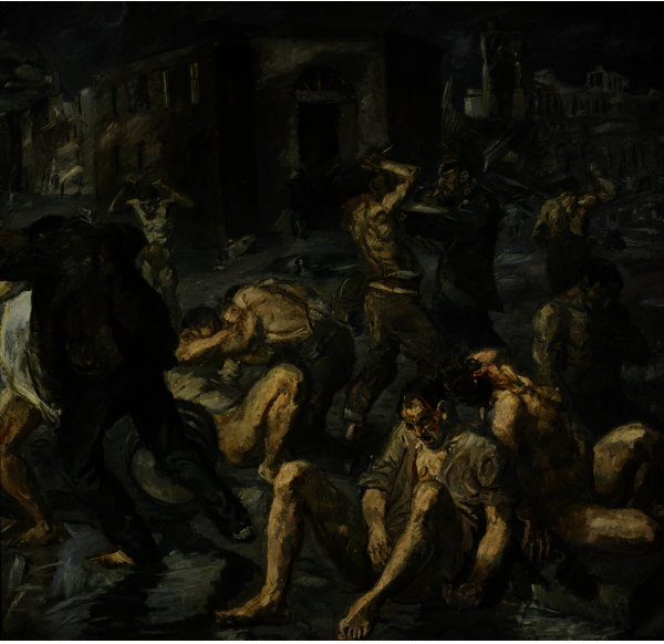 Scene from the Destruction of Messina by Max Beckmann (1884-1950, Germany)