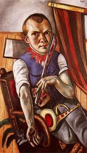 Order Painting Copy : Self-Portrait as Clown by Max Beckmann (1884-1950, Germany) | WahooArt.com