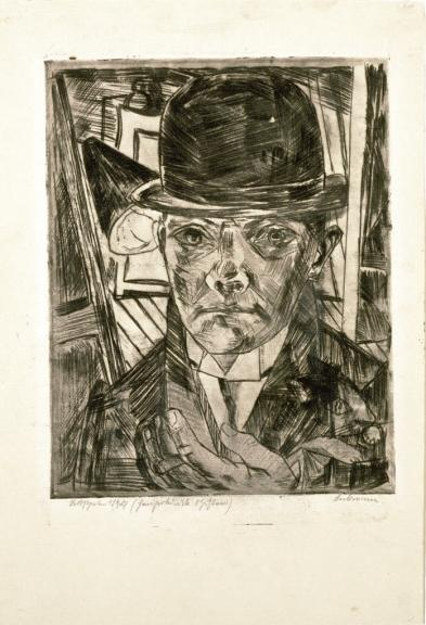 Self-Portrait in Bowler Hat by Max Beckmann (1884-1950, Germany) | Museum Quality Reproductions | WahooArt.com