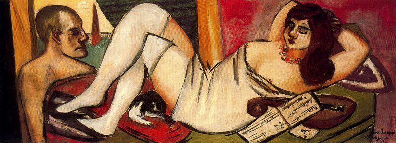 Siesta by Max Beckmann (1884-1950, Germany) | Oil Painting | WahooArt.com