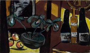 Max Beckmann - Still Life on Brown and Yellow