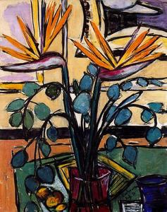 Max Beckmann - Still Life with Birds of Paradise