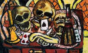 Max Beckmann - Still Life with Three Skulls