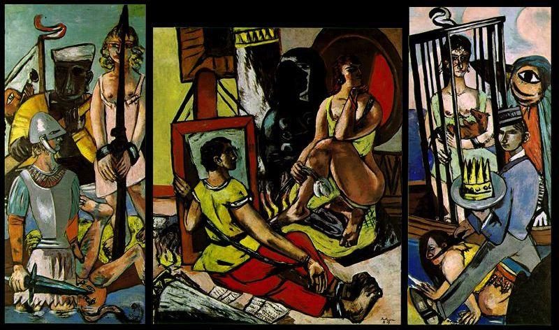 Temptation, Oil On Canvas by Max Beckmann (1884-1950, Germany)