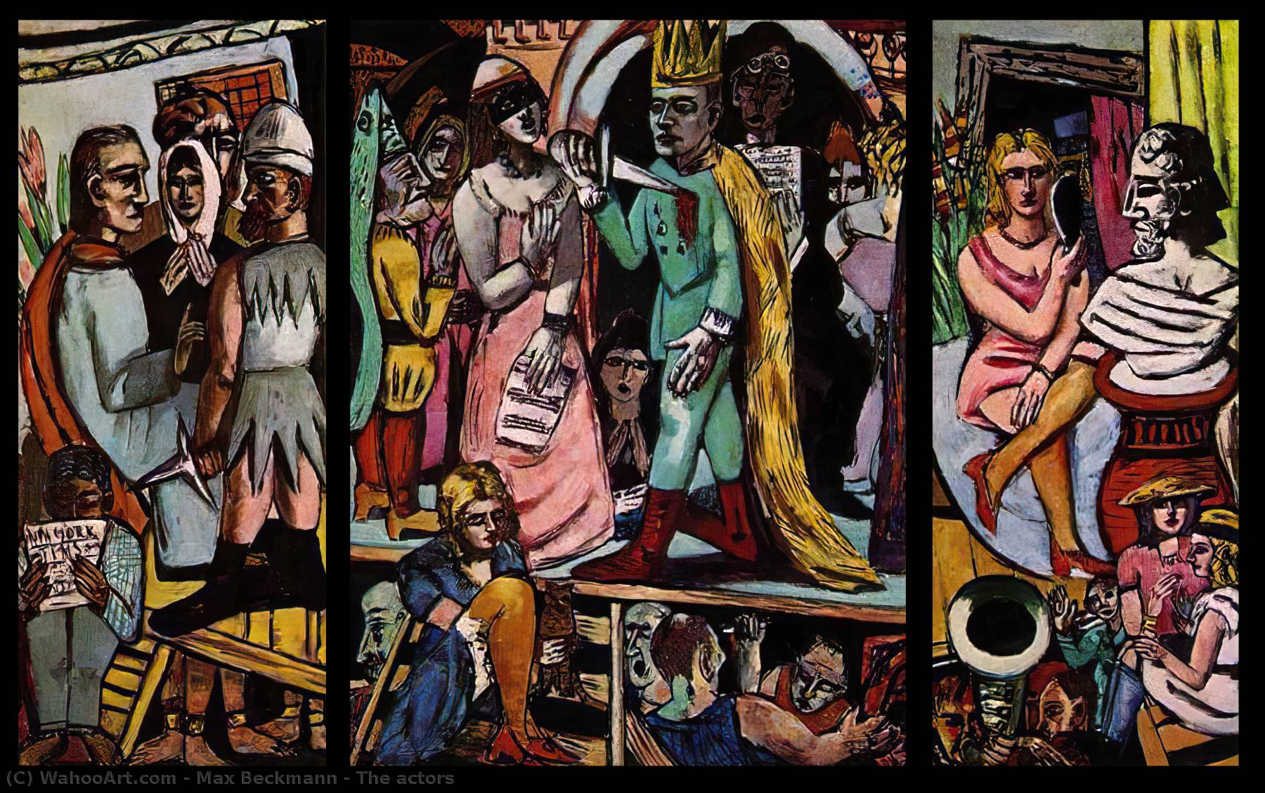 The actors, 1942 by Max Beckmann (1884-1950, Germany)