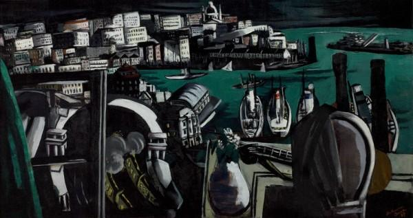 The Harbor of Genoa by Max Beckmann (1884-1950, Germany) | Museum Quality Reproductions | WahooArt.com