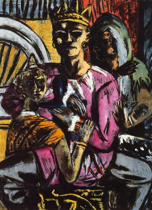 The King, 1937 by Max Beckmann (1884-1950, Germany) | Museum Quality Reproductions | WahooArt.com