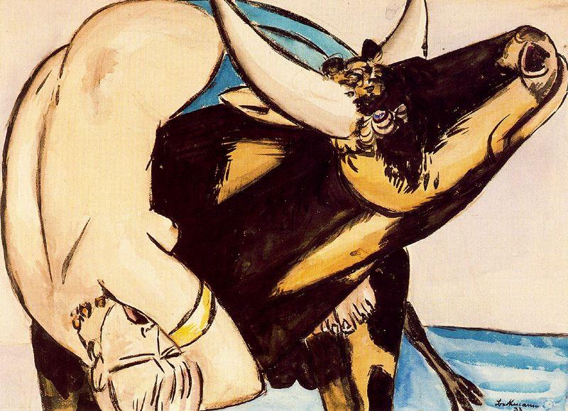 The Rape of Europa by Max Beckmann (1884-1950, Germany)