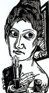 Max Beckmann - Woman with candle 1