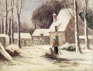 Maximilien Luce - The farm in the snow