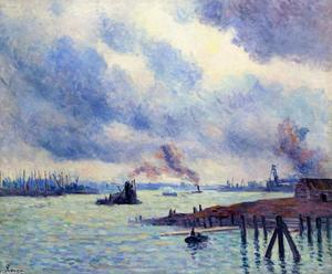 Maximilien Luce - The Port of Rotterdam