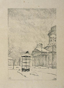 Mstislav Dobuzhinsky - St Isaac's Cathedral in Snow-Storm