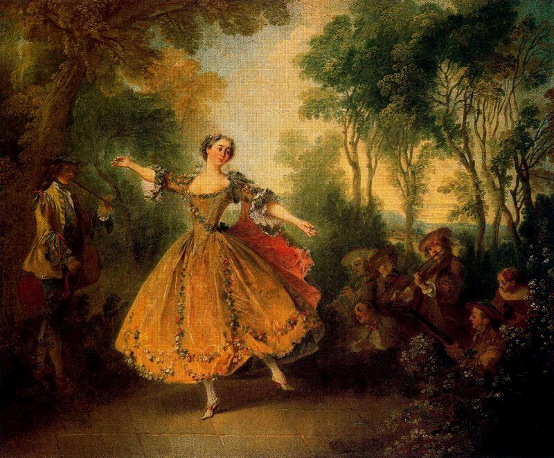 The Camargo Dancer by Nicolas Lancret (1690-1743, France) | Famous Paintings Reproductions | WahooArt.com