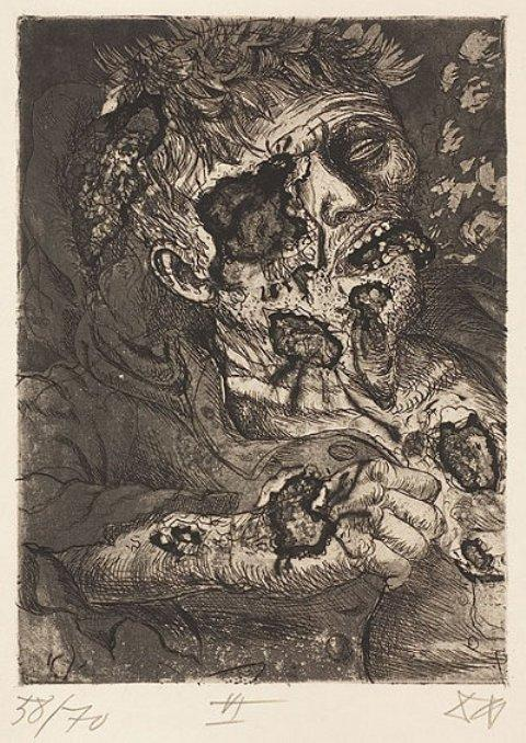 Dying soldier by Otto Dix (1891-1969, Germany) | Museum Quality Reproductions | WahooArt.com
