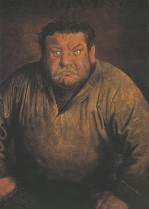 Portrait of the Actor Heinrich George by Otto Dix (1891-1969, Germany) | Art Reproduction | WahooArt.com