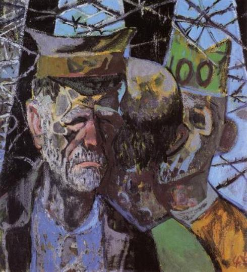 Self-portrait as a Prisoner of War by Otto Dix (1891-1969, Germany) | Oil Painting | WahooArt.com