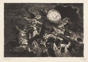 Otto Dix - Soldier's grave between the lines