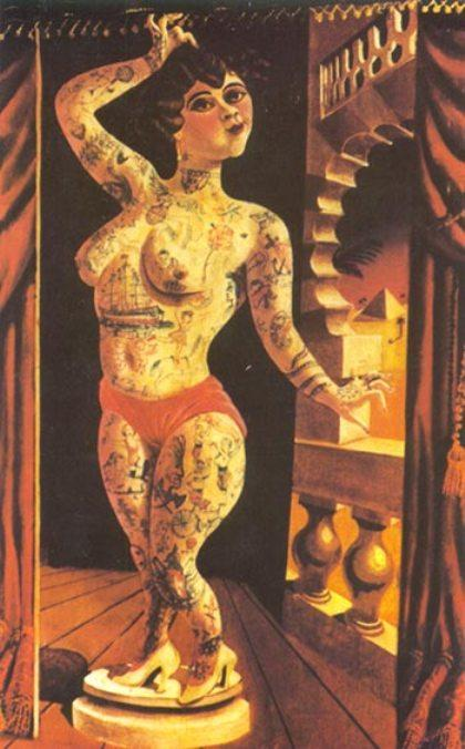 Suleika, the Tatooed Wonder by Otto Dix (1891-1969, Germany)
