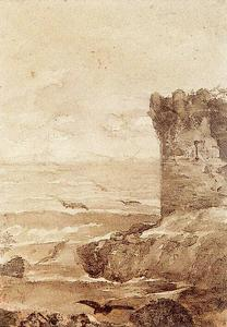 Ovidio Murguía De Castro - Crenellated tower on the sea