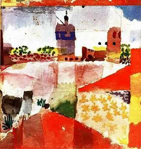 Paul Klee - Hammamet with mosque