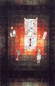 Paul Klee - The Mountain of the Sacred Cat