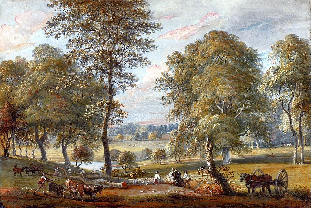 Foresters In Windsor Great Park by Paul Sandby (1798-1863, United Kingdom) | Oil Painting | WahooArt.com