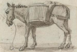 Paul Sandby - Study of a donkey